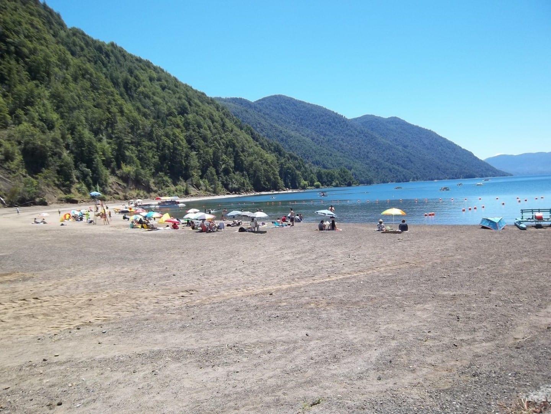 La playa de Carburgua. Pucón Chile