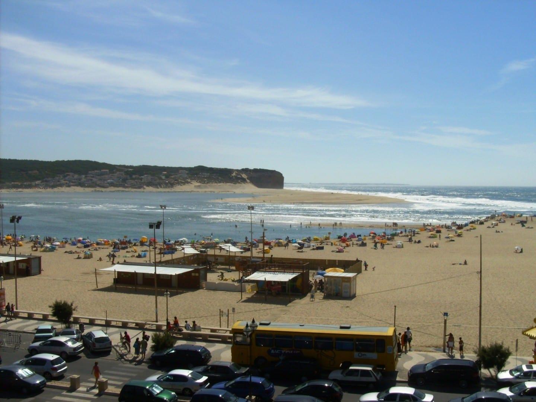La playa de Foz do Arelho. Caldas da Rainha Portugal