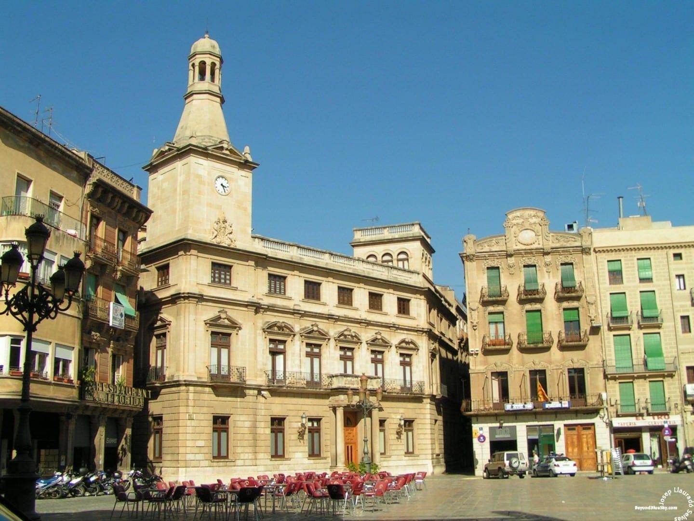 La plaza del mercado. Reus España