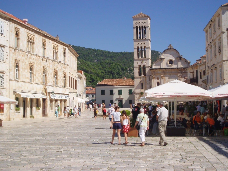 La plaza principal de Hvar Isla de Hvar Croacia