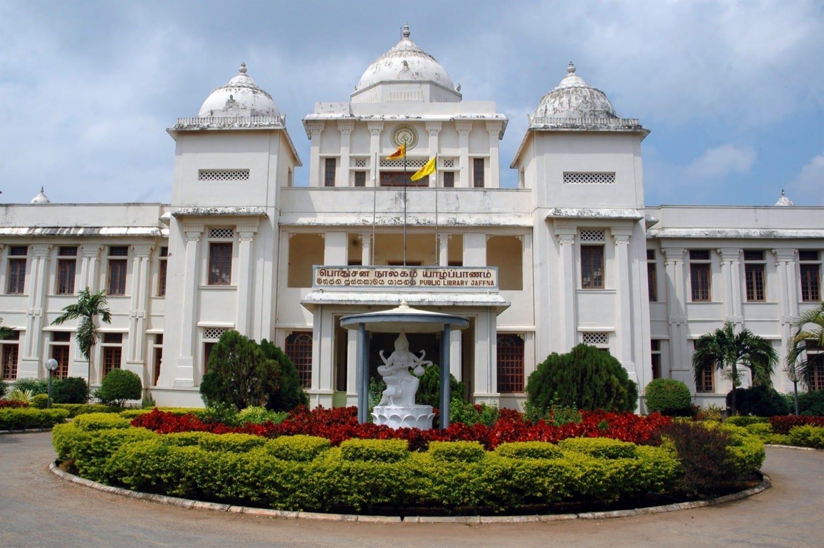 La restaurada Biblioteca de Jaffna. Jaffna Sri Lanka