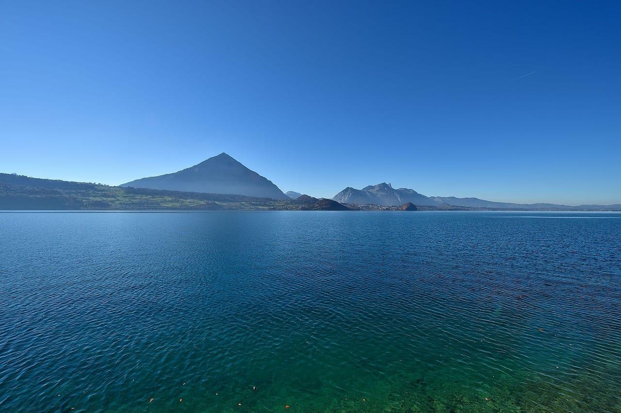 Lago De Thun Aguas La Naturaleza Suiza