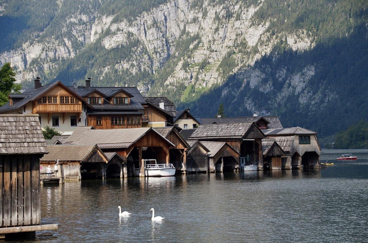 Lago Hallstatt Histórico Austria