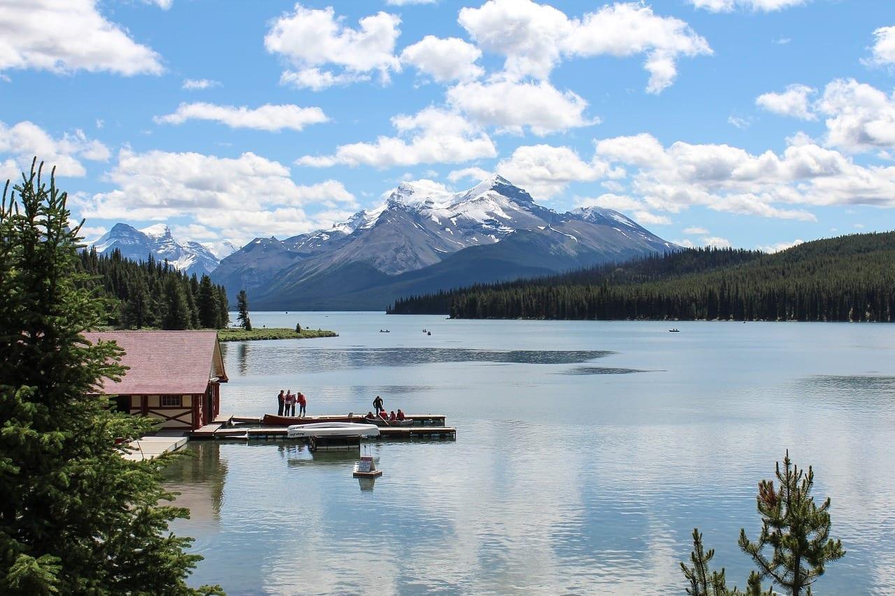 Lago Maligne Jasper Alberta Canadá