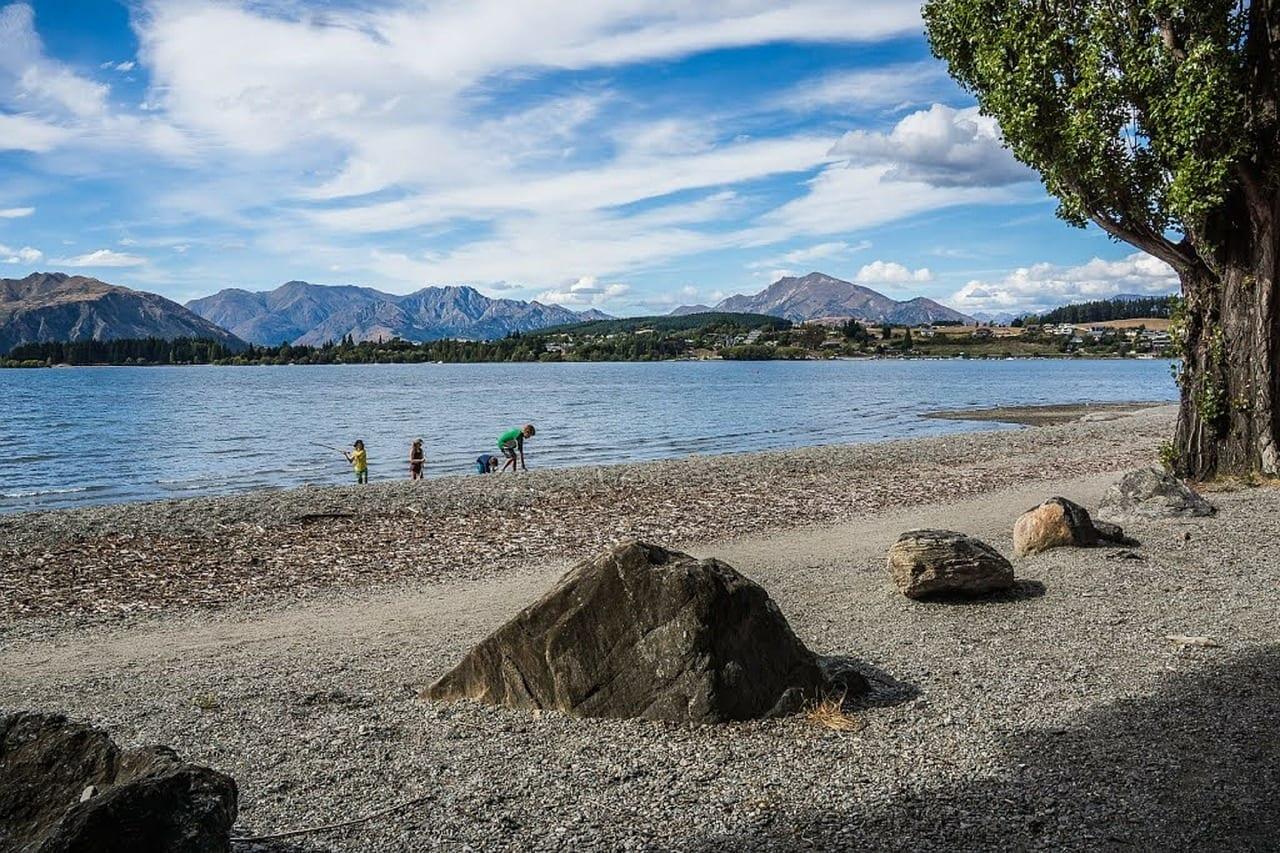Lago Wanaka Nueva Zelanda Montañas Nueva Zelanda