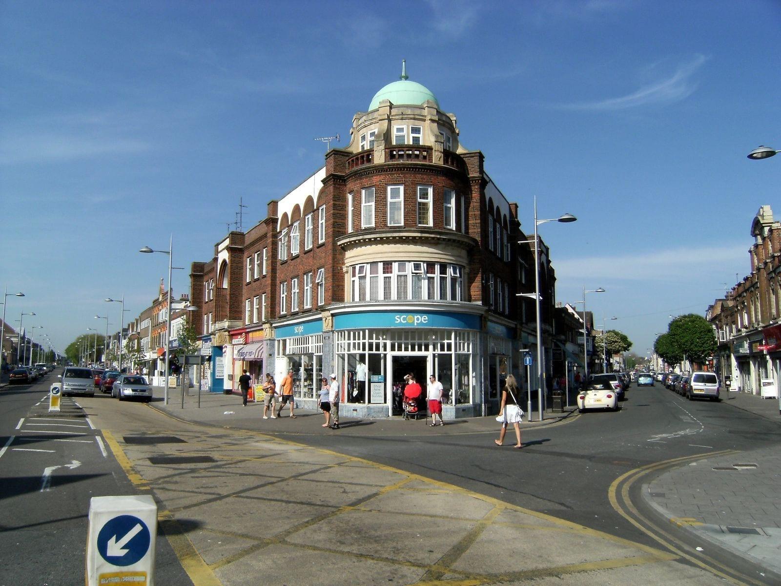 Las calles de Clacton-on-Sea Clacton-on-sea Reino Unido