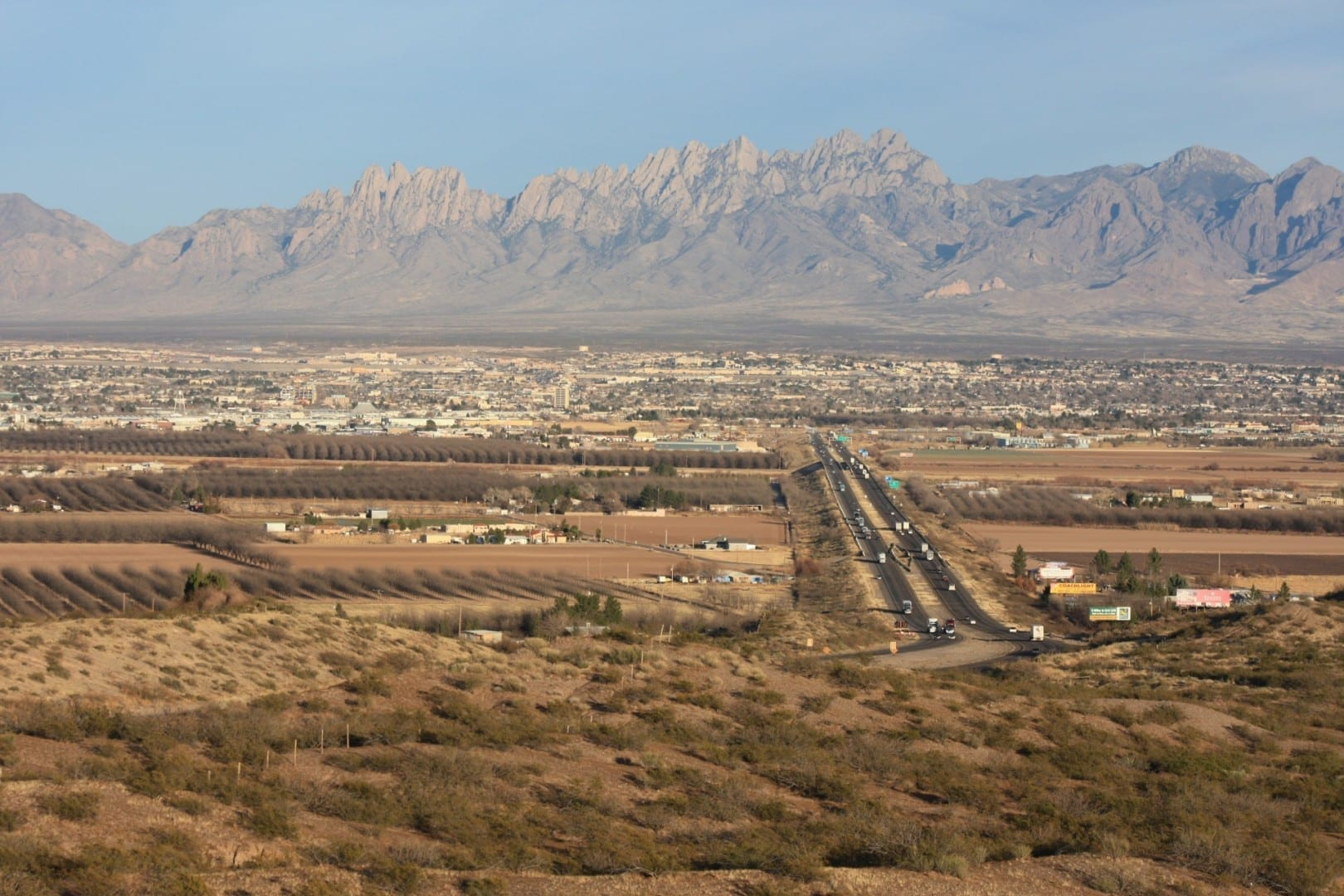 Las Cruces, con las Montañas del Órgano como telón de fondo Las Cruces (Nuevo México) Estados Unidos