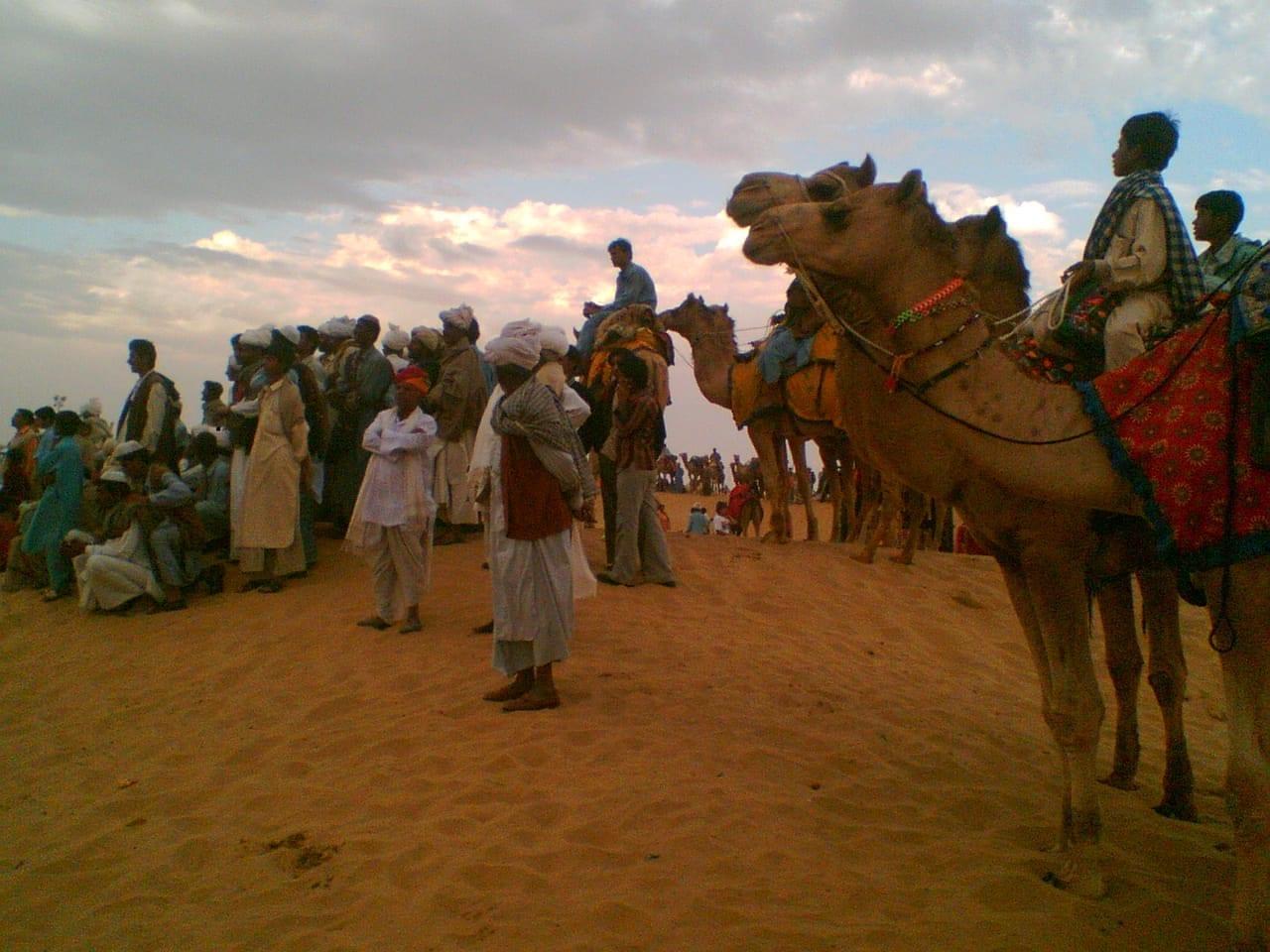 Las Dunas de Arena de Sam, situadas a 40 km al oeste de Jaisalmer Jaisalmer India