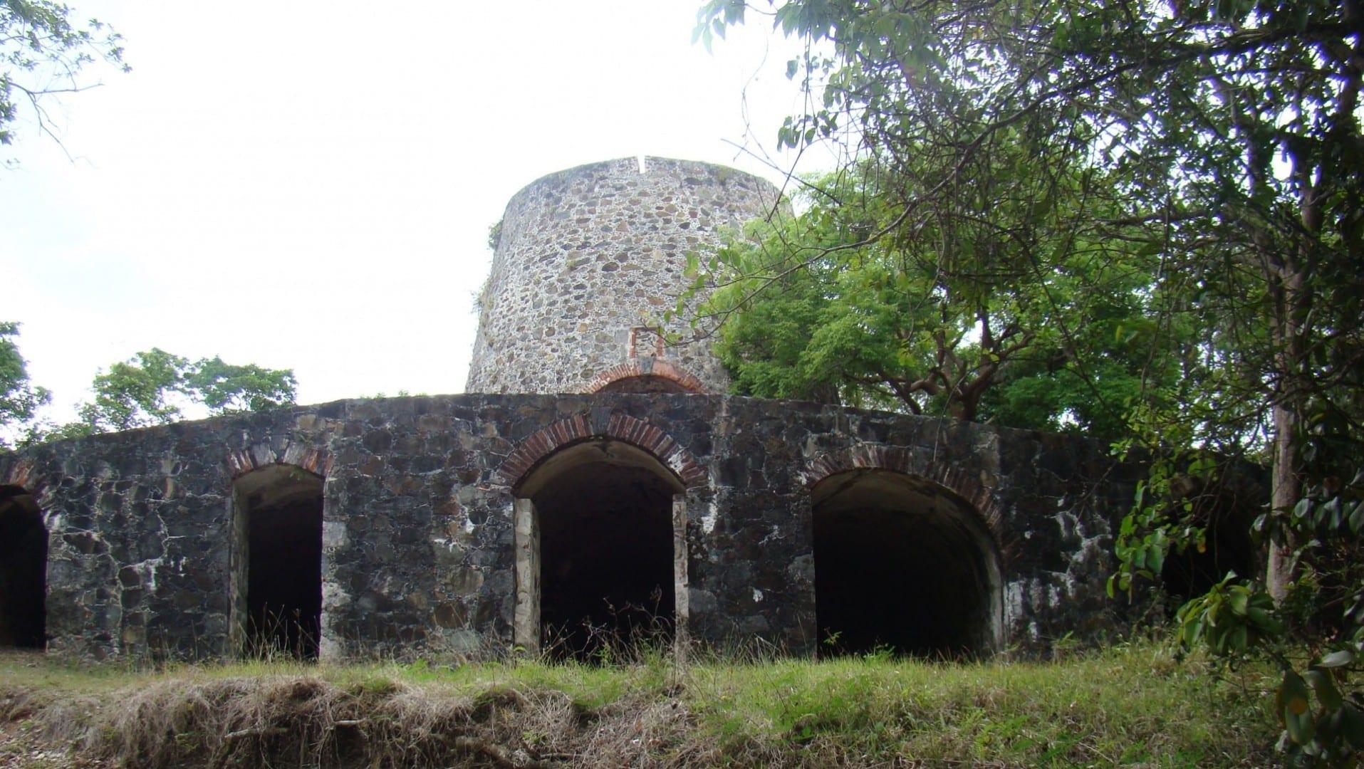 Las ruinas del molino de azúcar de Catherineberg. Isla Saint John Islas Vírgenes de los Estados Unidos