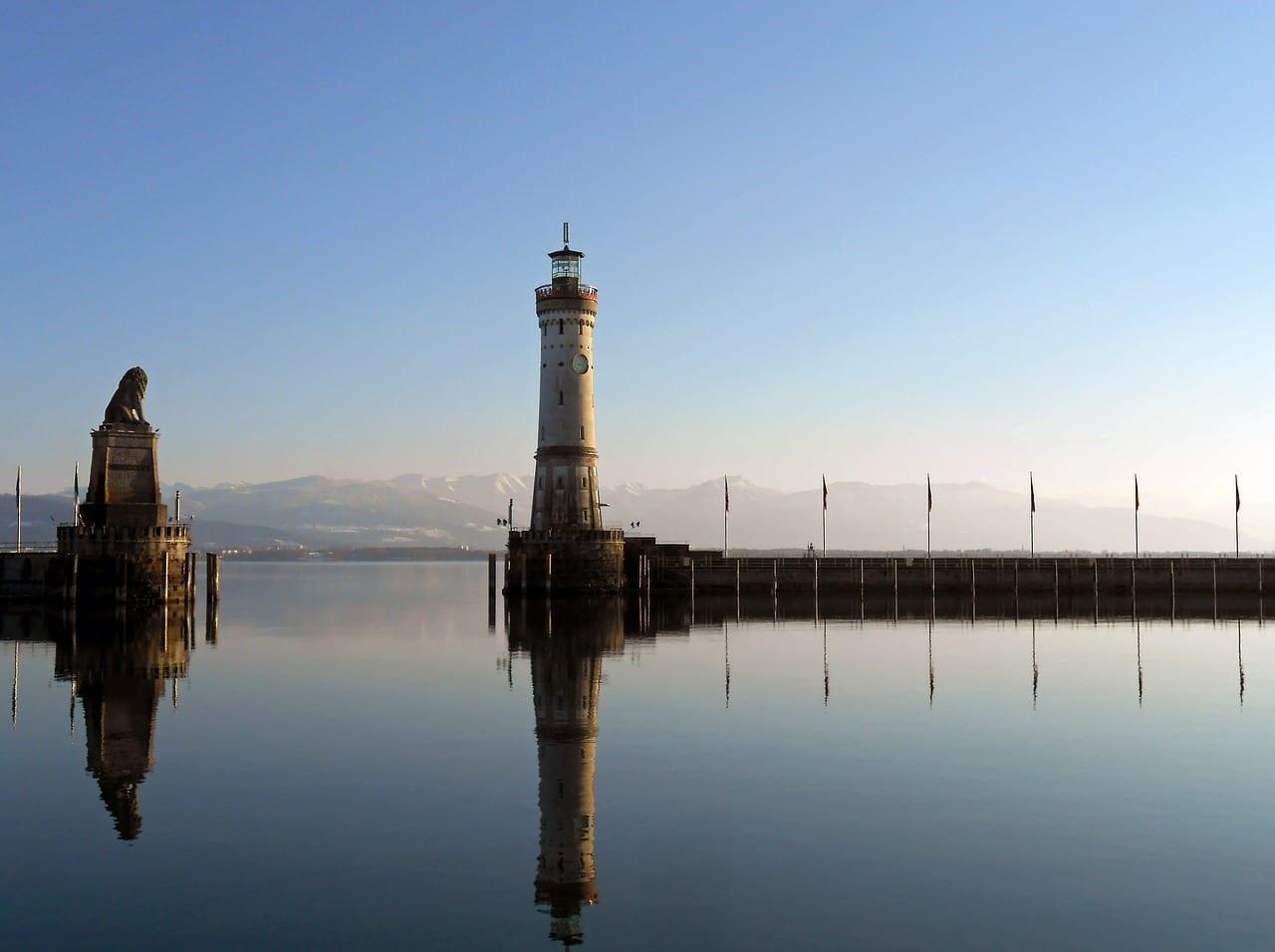 Lindau Puerto Lago De Constanza Alemania