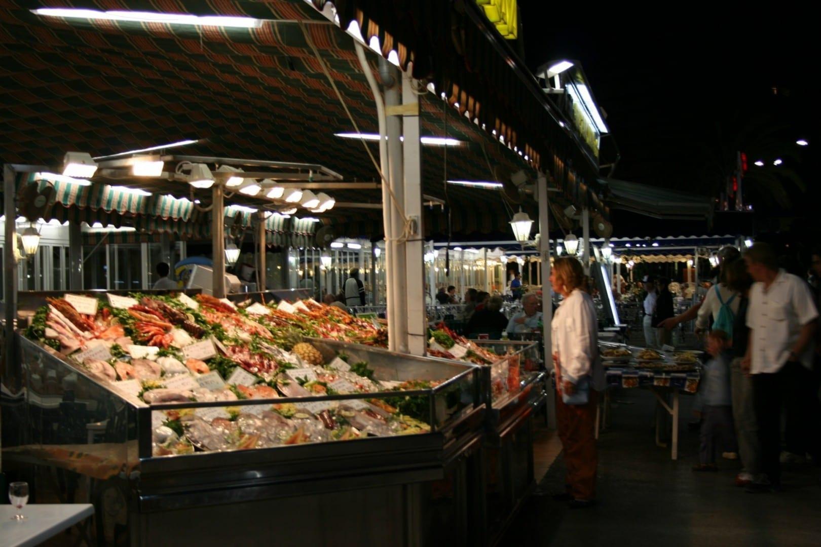 Lonja, o subasta de pescado Calpe España