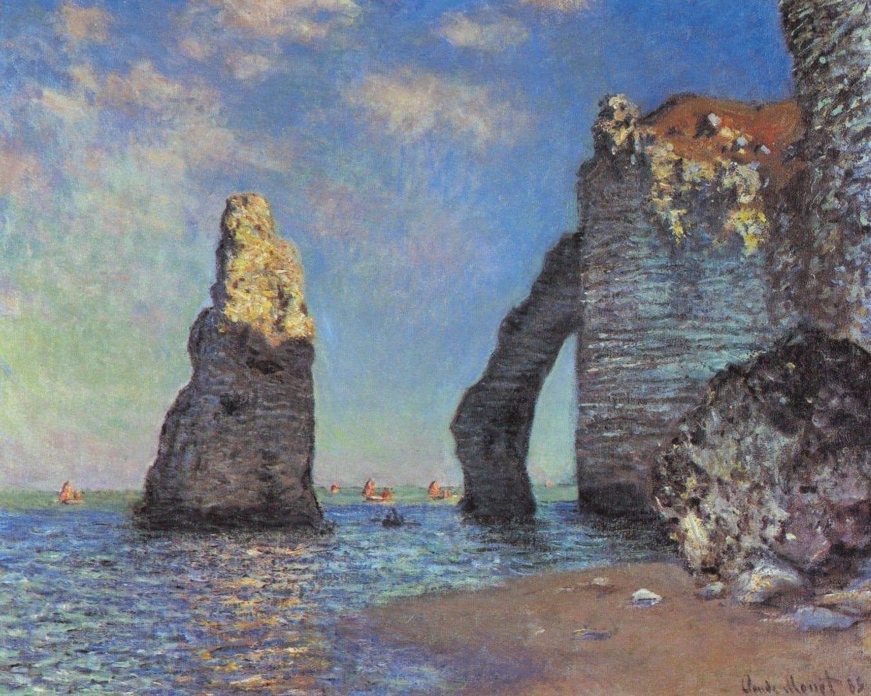 Los acantilados de Étretat, Claude Monet Étretat Francia