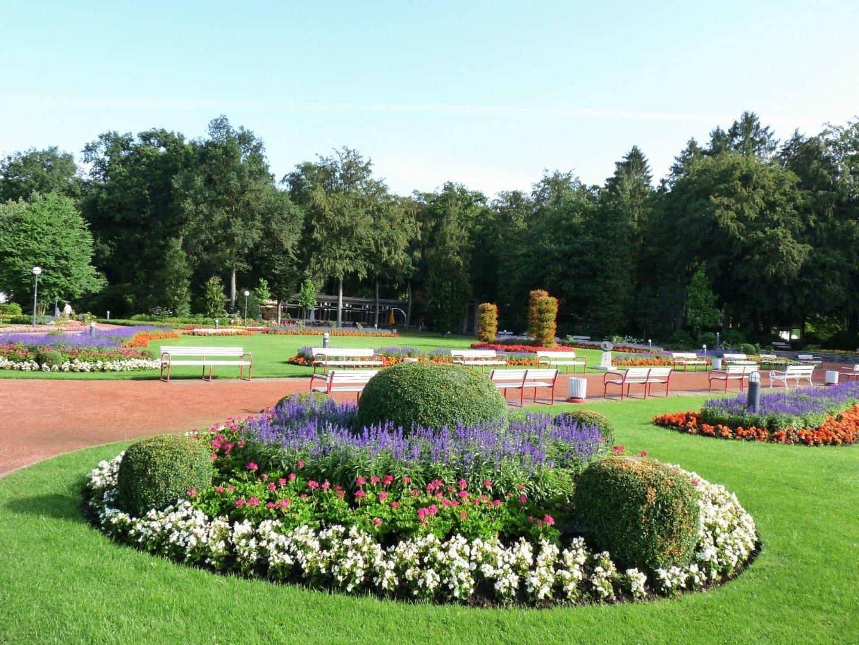 Los jardines del balneario de Bad Lippspringe Paderborn Alemania