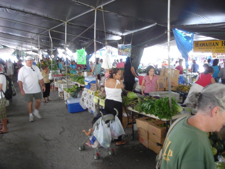 Los productos frescos en el Mercado de Granjeros Hilo HI Estados Unidos