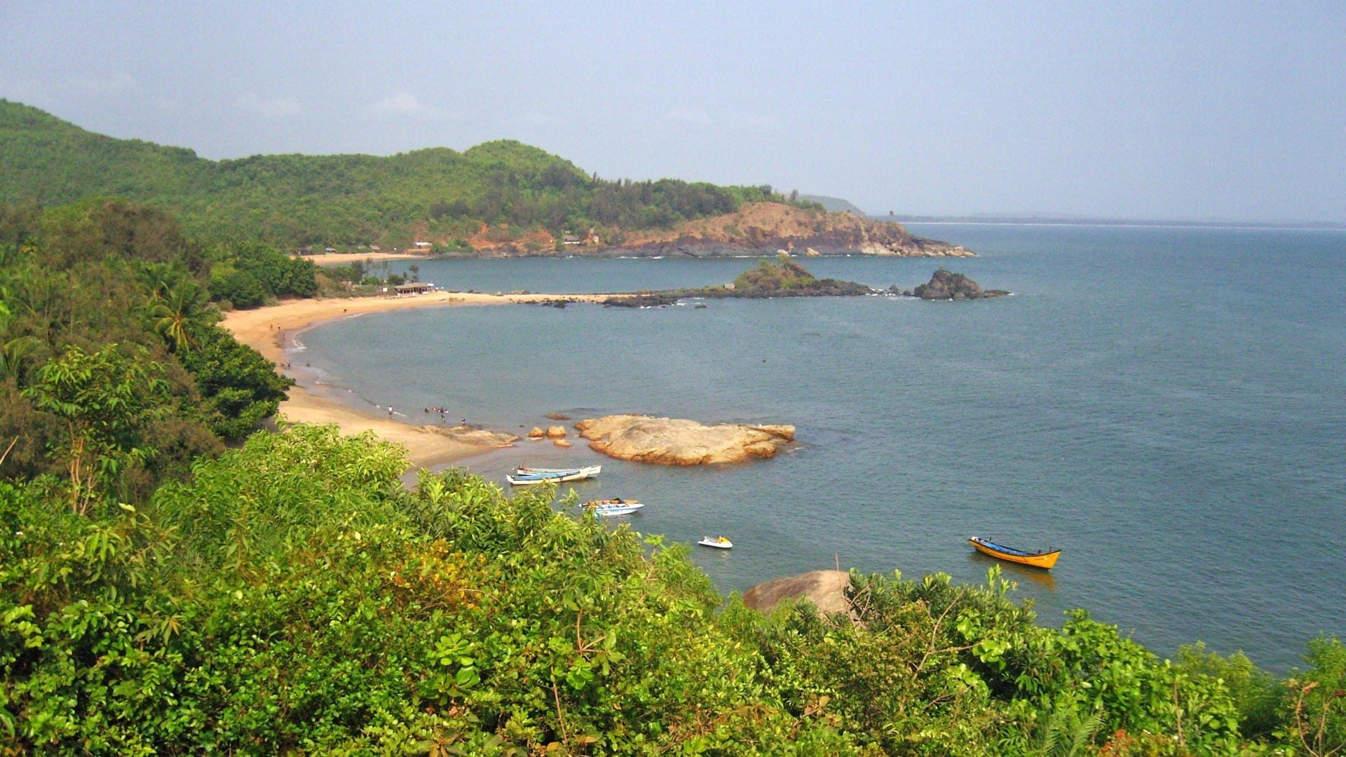 Los servicios de navegación vistos en la playa de Om, a 5 km de la ciudad. Gokarna India