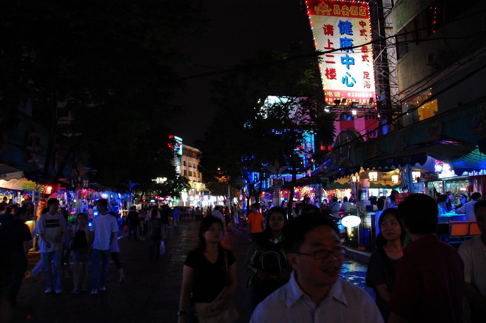 Lotus Road en Gongbei Zhuhai, Macao China