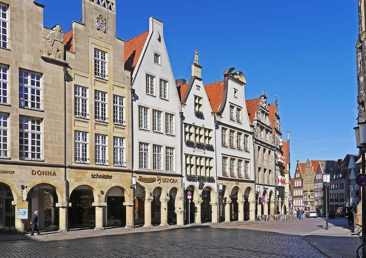 Münster Principal Mercado Westfalen Alemania