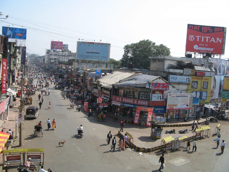Mercado de Sitabuldi Nagpur India