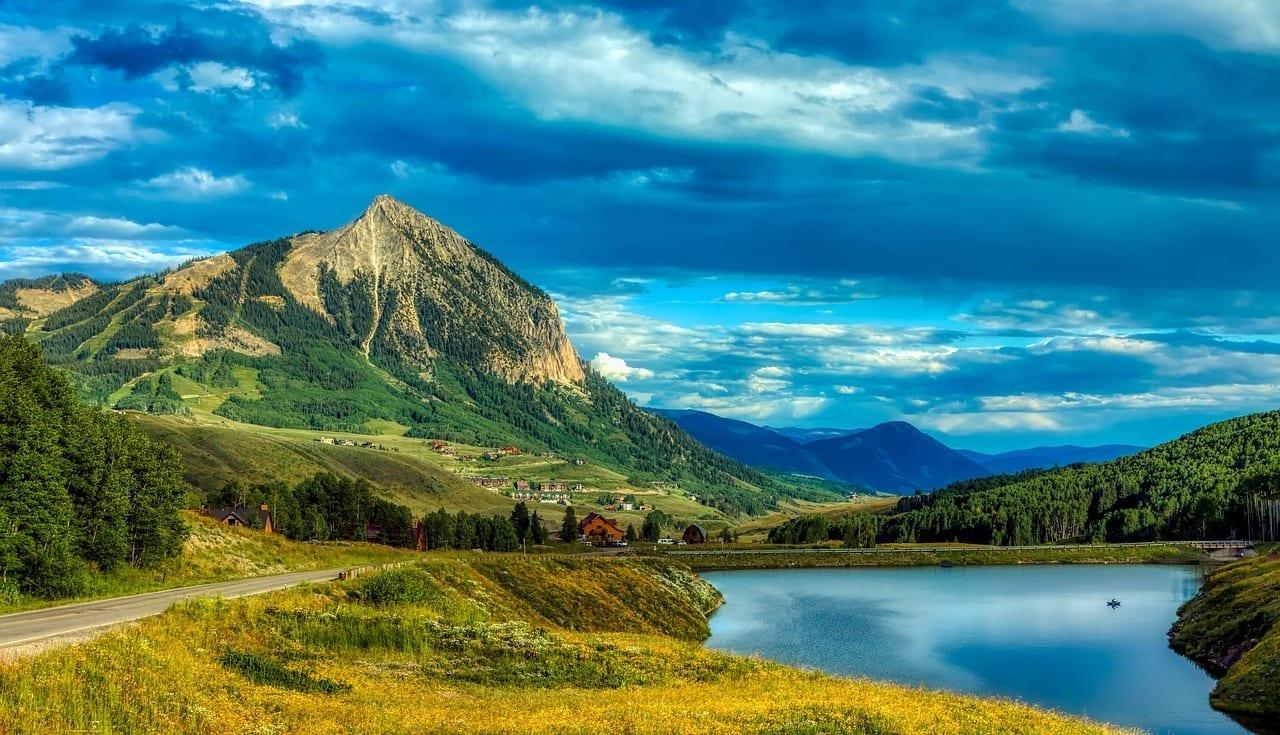 Merdian Lago Montañas Crested Butte Estados Unidos