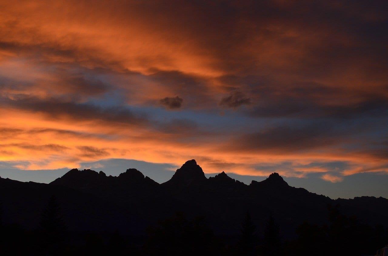 Montaña Orange Rojo Australia