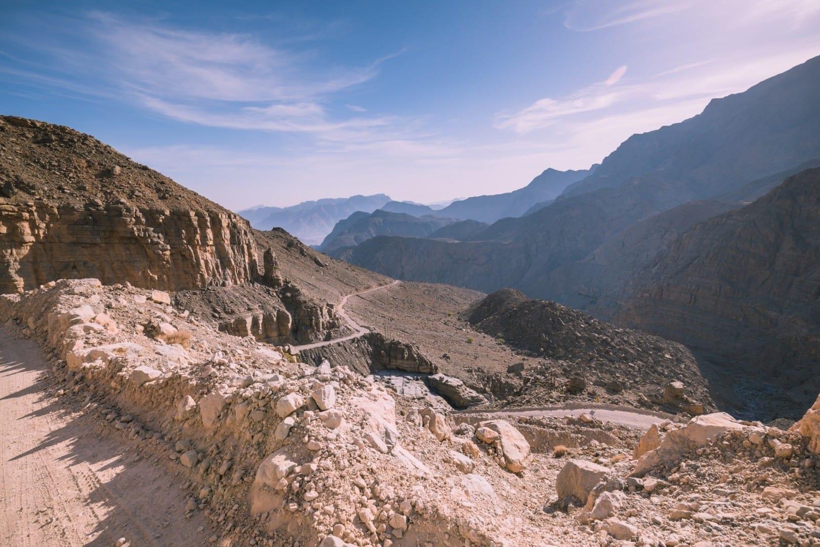 Montañas de Al Hajar al Gharbi Khasab Omán