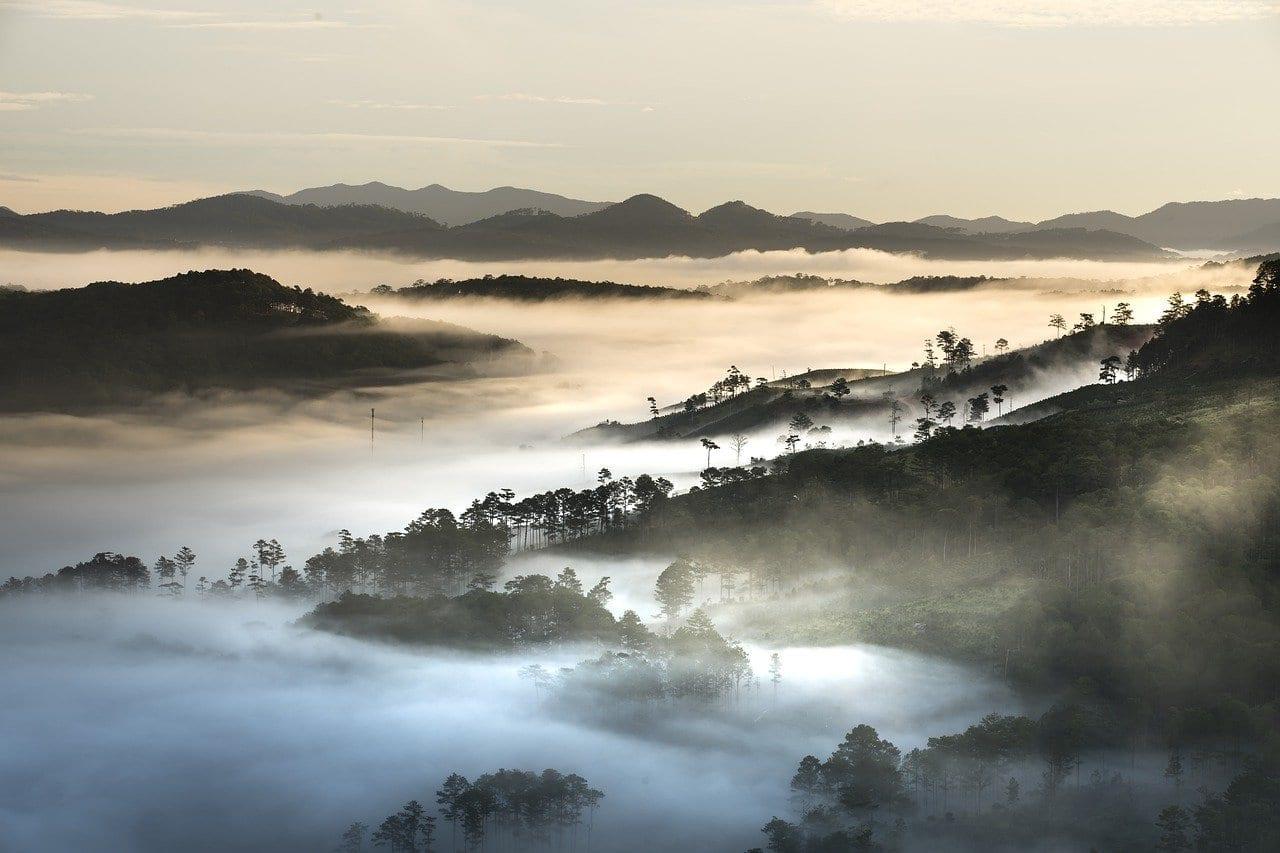 Montañas Paisaje Da Lat Vietnam