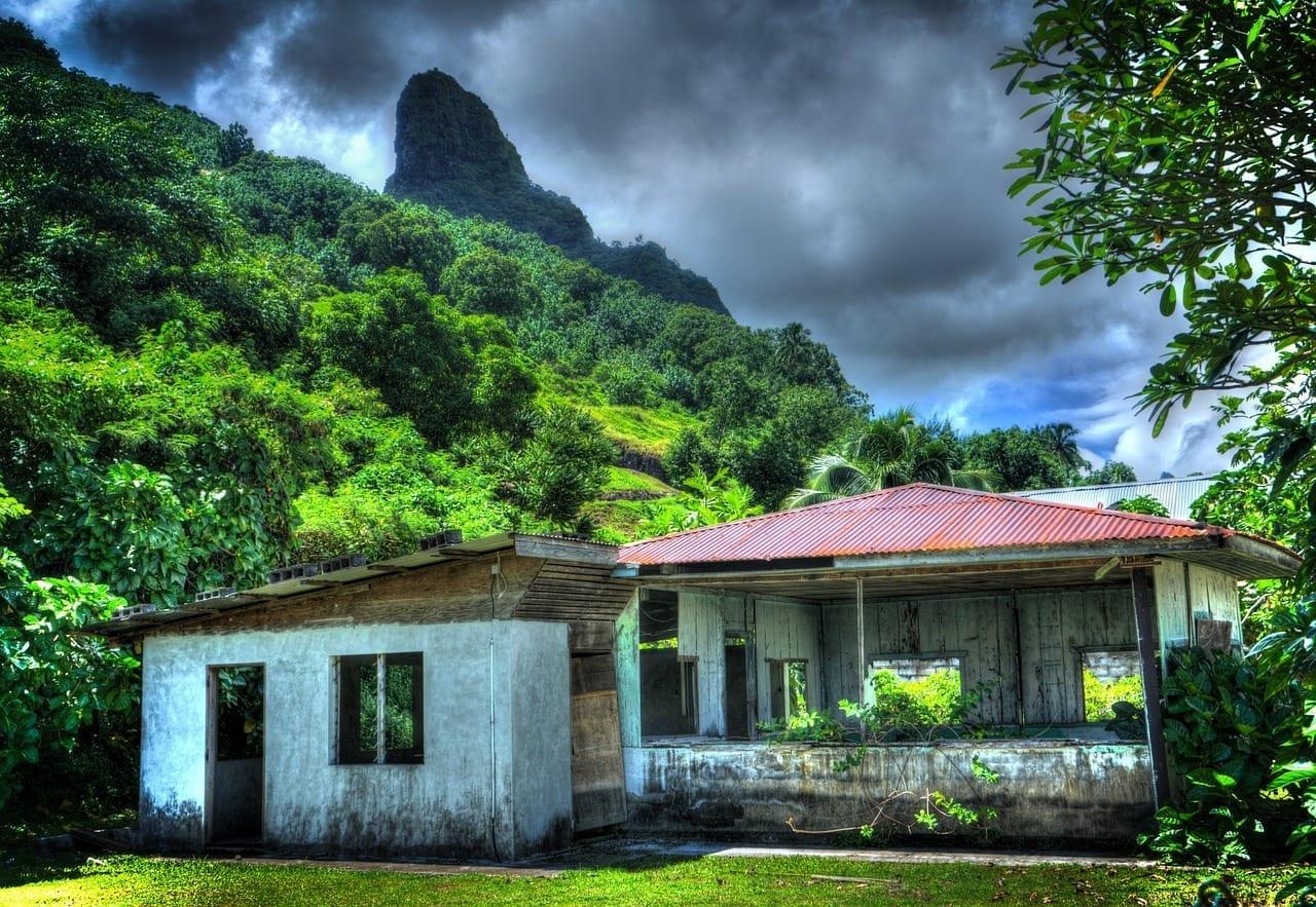Moorea Polinesia Francesa Casa Abandonada Polinesia Francesa