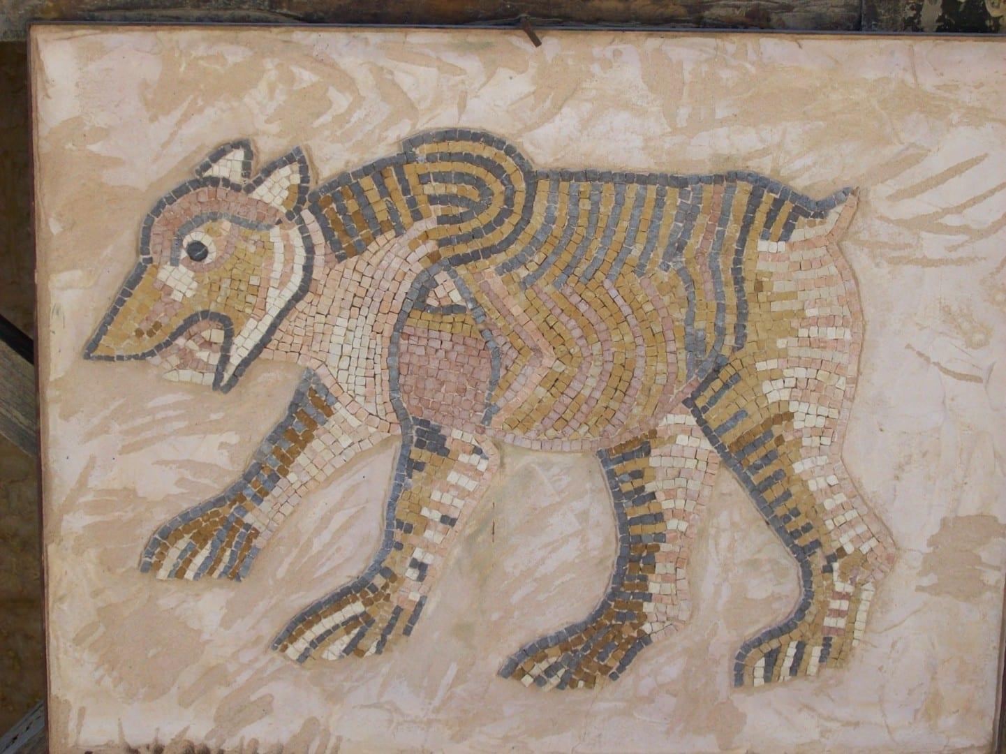 Mosaico de animales Madaba Jordania