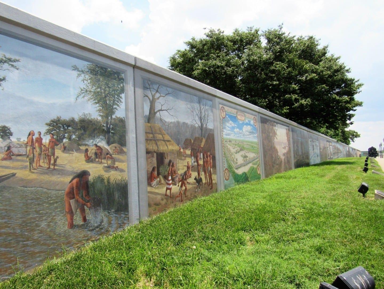 Murales de la pared de la inundación Paducah IL Estados Unidos