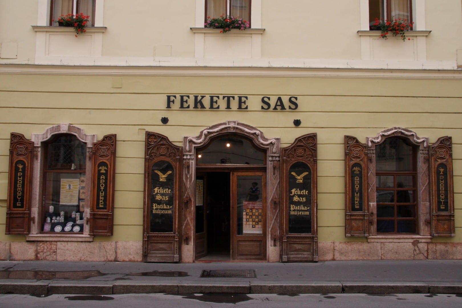 Museo de la Farmacia Black Eagle Szekesfehervar Hungría