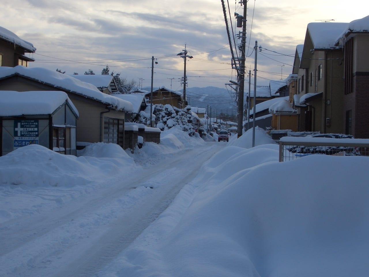 Nieve pesada en Kanazawa Kanazawa Japón