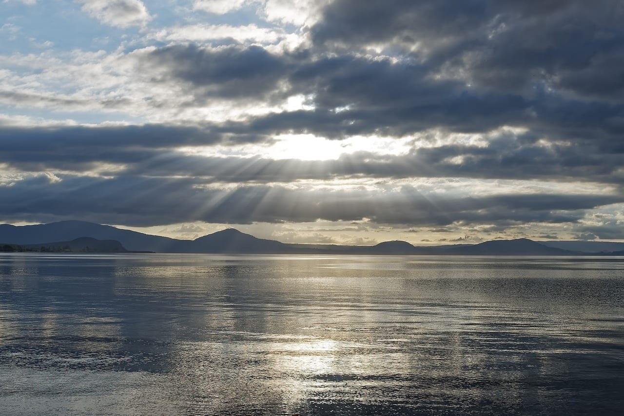 Nueva Zelanda Lago Taupo Aguas Nueva Zelanda