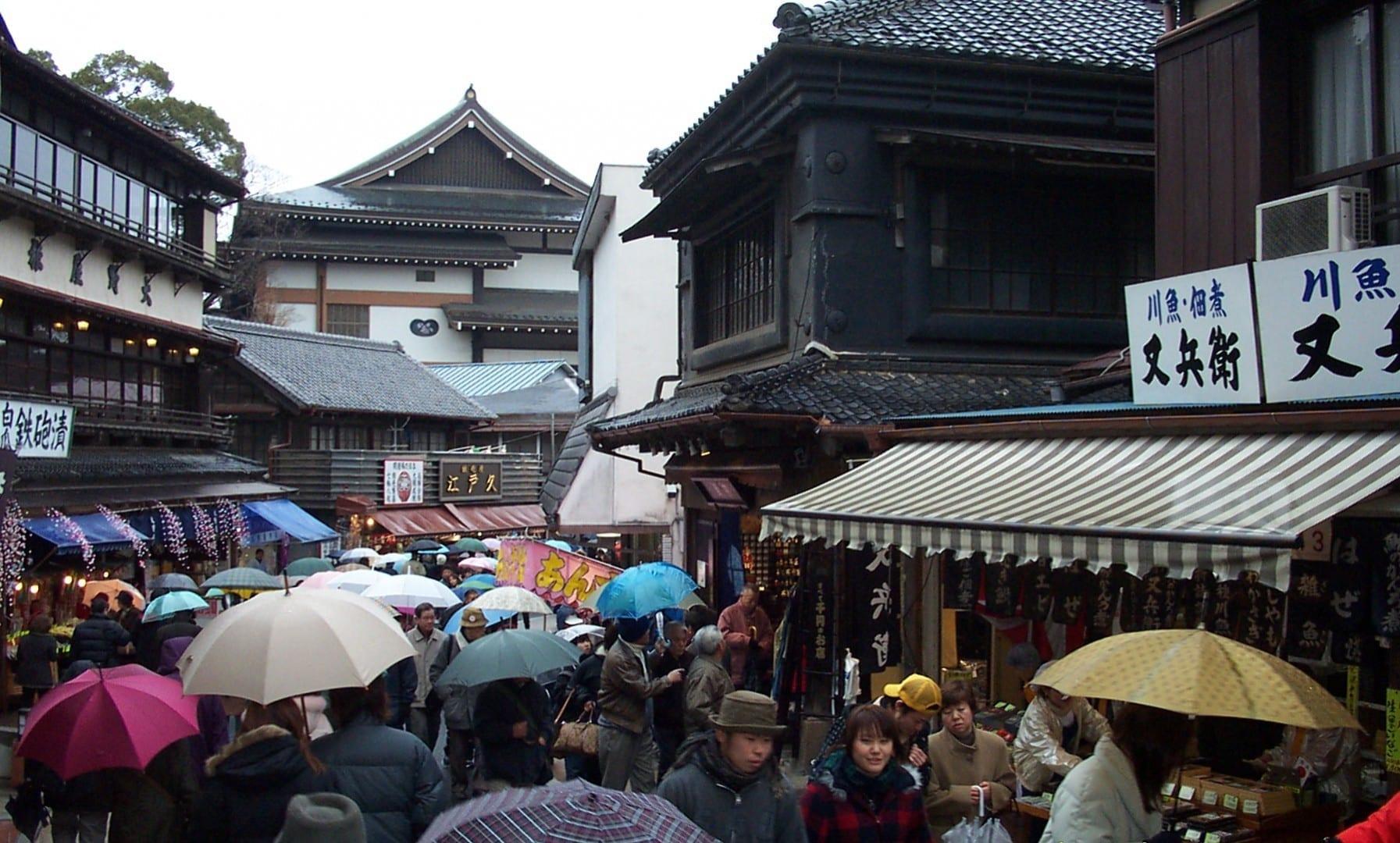 Omote-sandō, que lleva a Narita Shinsho-ji Narita Japón