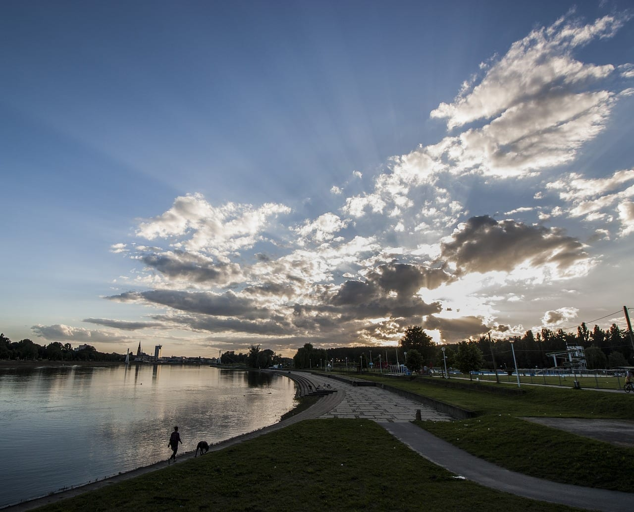 Osijek Croacia Puesta De Sol Croacia