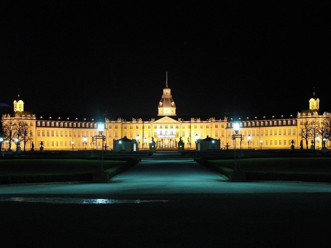 Palacio Karlsruhe Histórico Arquitectura Alemania