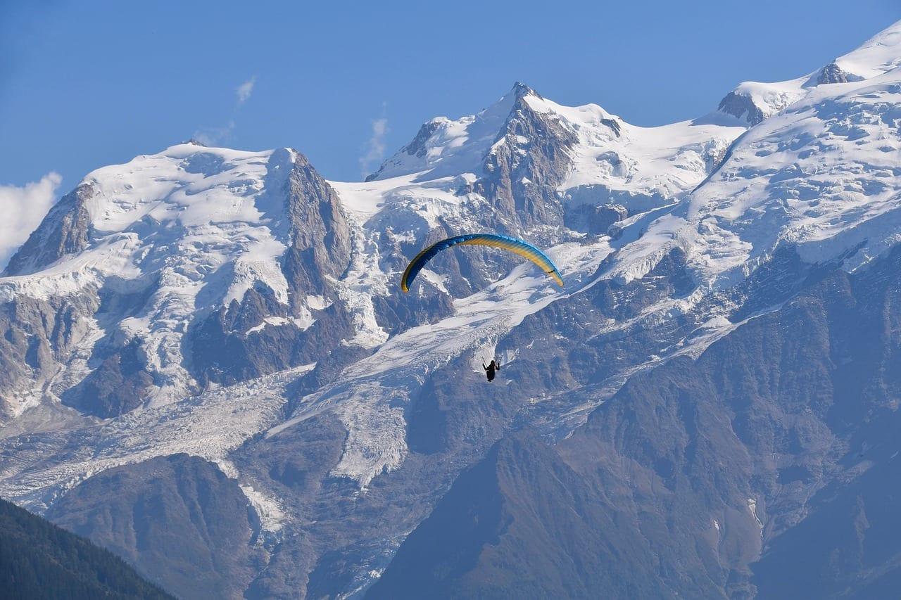 Parapente Vistas Panorámicas Mont Blanc Francia