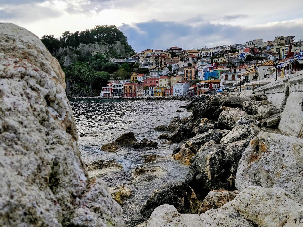 Parga Mar Las Rocas Grecia