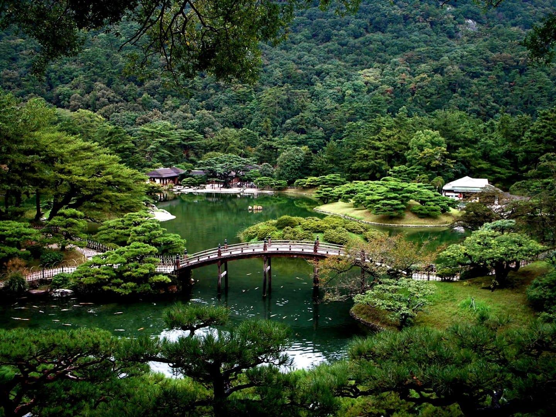 Parque Ritsurin Takamatsu Japón