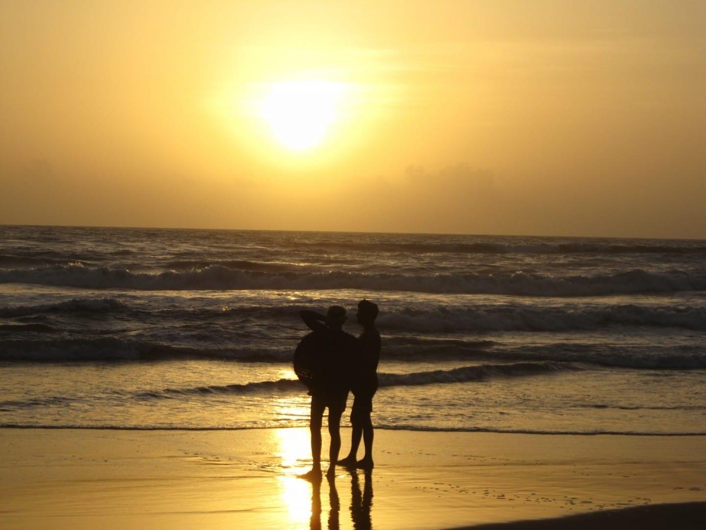 Pescadores locales en la playa de Gokarna Gokarna India