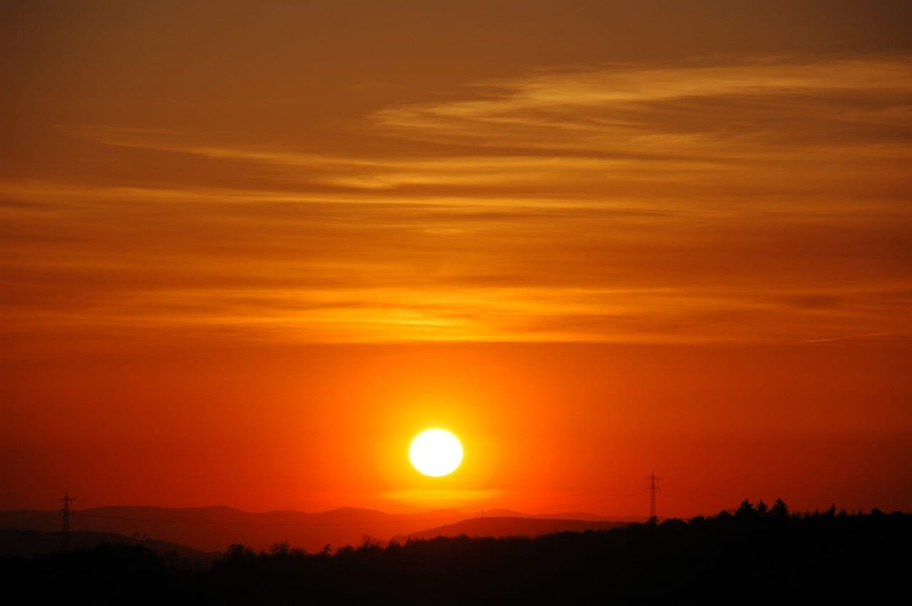 Pforzheim Puesta Del Sol Sun Alemania