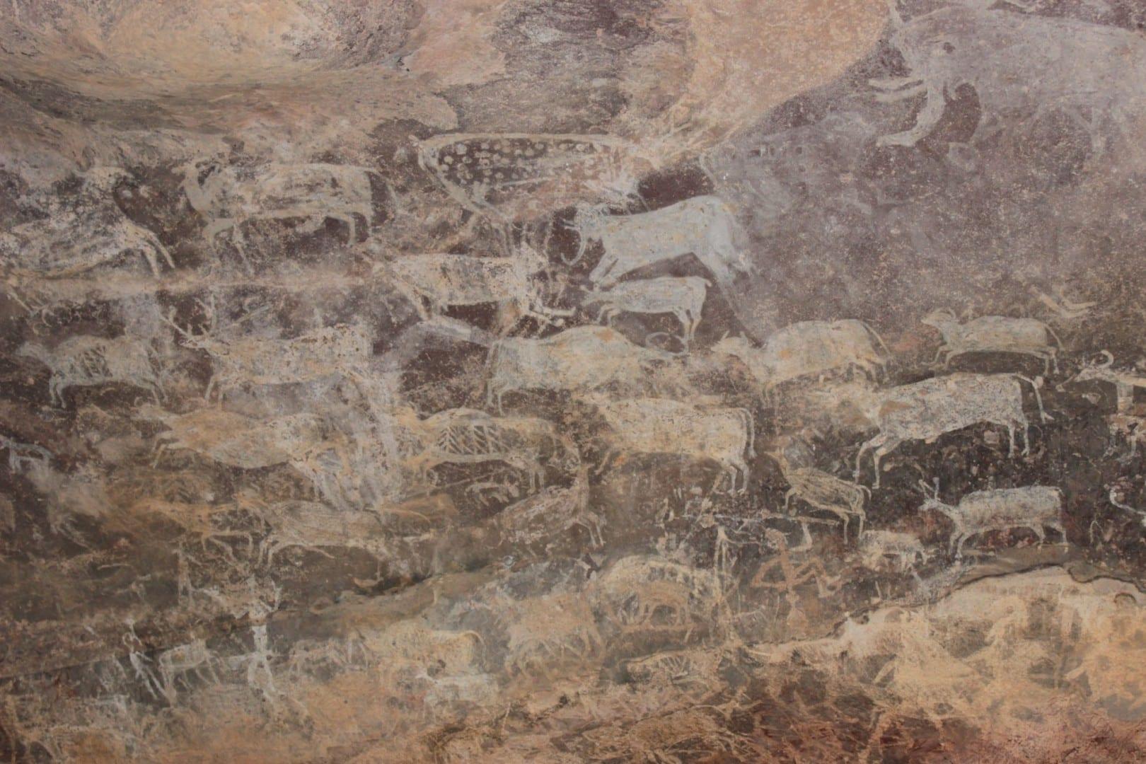 Pinturas rupestres de Bheem Baithika Bhopal India