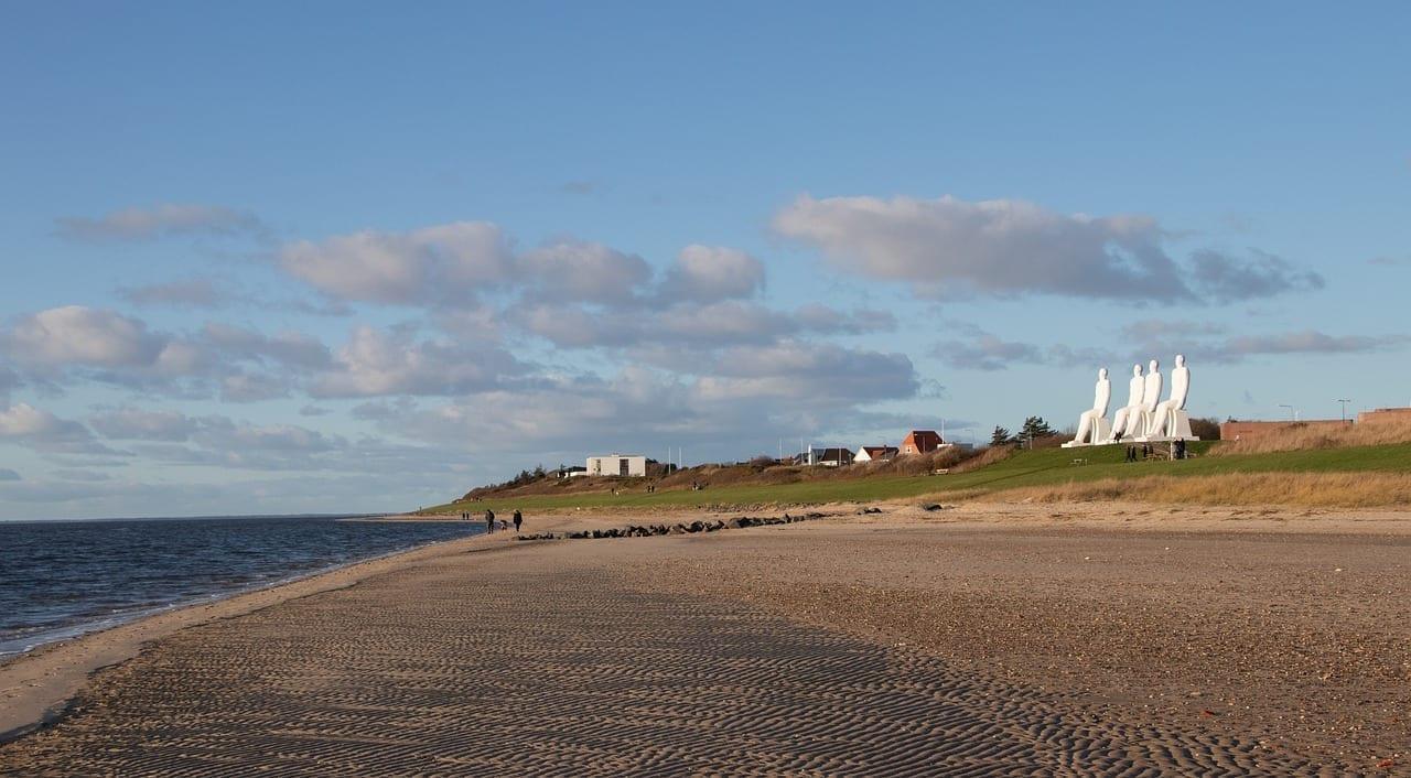 Playa Esbjerg Paisaje Dinamarca