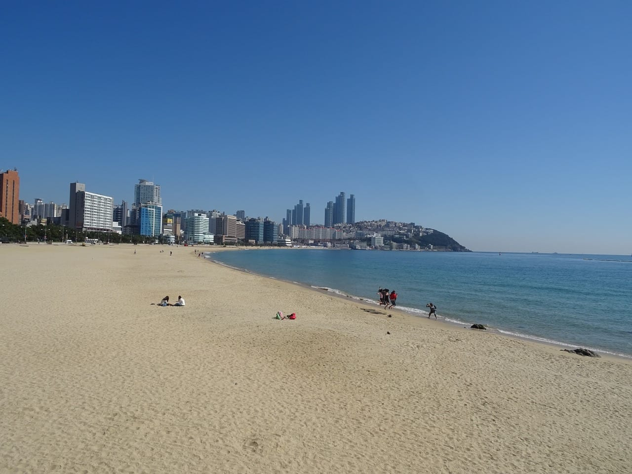 Playa Haeundae Bañar La Playa Busan Corea del Sur