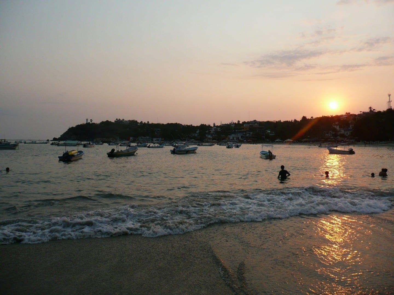 Playa Principal Puerto Escondido México