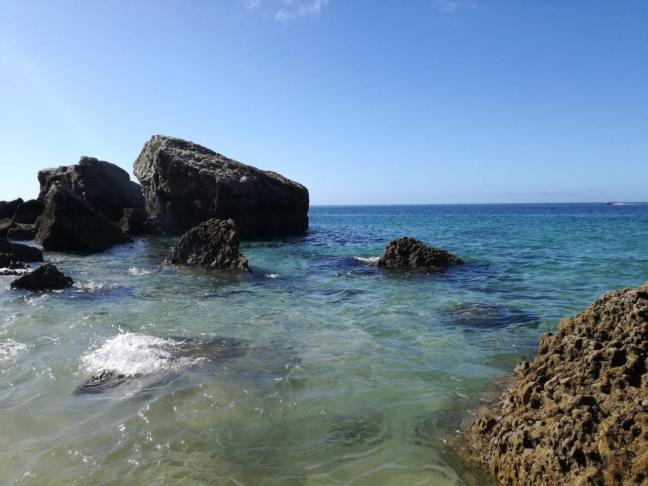 Playa Sesimbra Océano Portugal