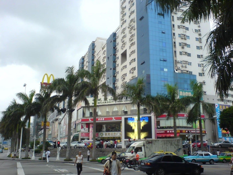 Plaza comercial Ying Bin en Gongbei Zhuhai, Macao China