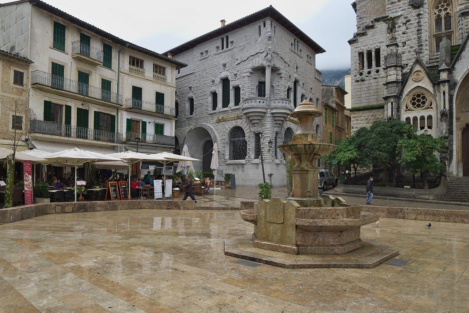 Plaza de la Constitución Sóller, Mallorca España