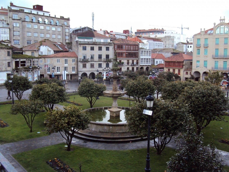 Plaza de la Herrería, zon monumental, depicted in 2009 Pontevedra (Provincia) España