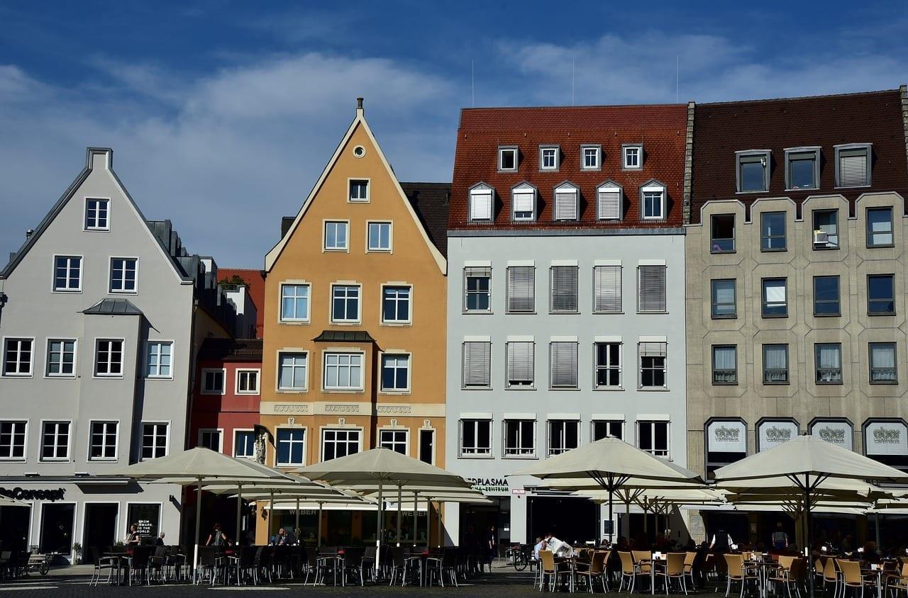 Plaza Del Ayuntamiento Augsburgo Casas Alemania