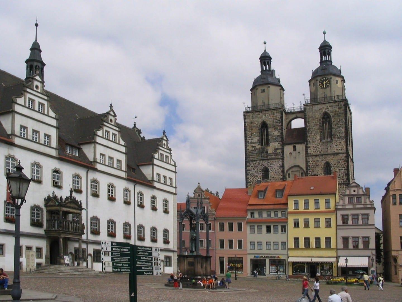 Plaza del mercado Wittenberg Alemania